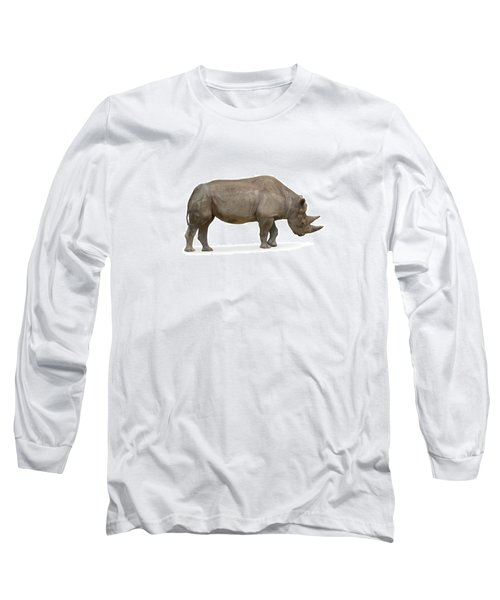 Long Sleeve T-Shirt featuring the photograph Rhinoceros by Charles Beeler