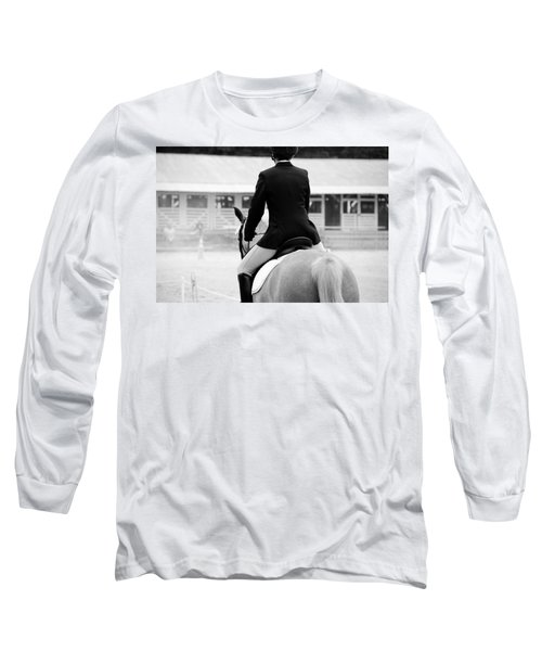 Rider In Black And White Long Sleeve T-Shirt