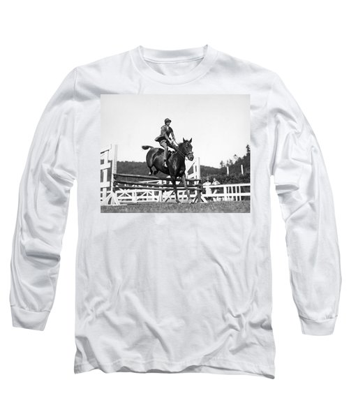 Rider Jumps At Horse Show Long Sleeve T-Shirt