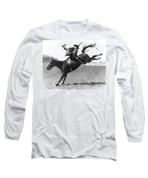 Riding A Bucking Bronco Long Sleeve T-Shirt