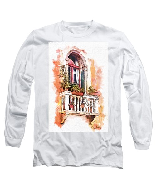 Long Sleeve T-Shirt featuring the painting Riposo by Greg Collins