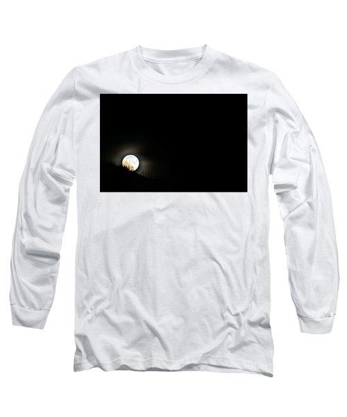 Rising Moon Long Sleeve T-Shirt by Joel Loftus