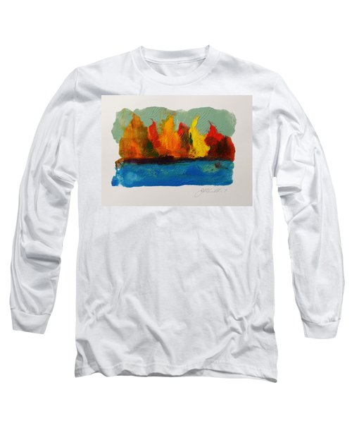 River Bank In Color Long Sleeve T-Shirt