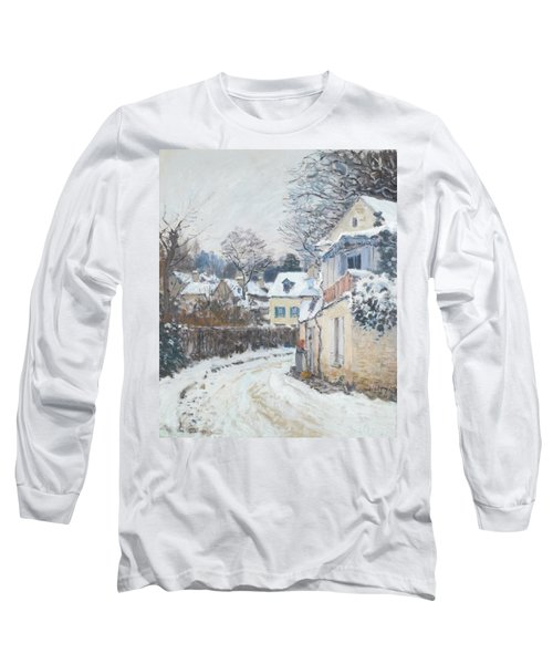 Road Louveciennes Long Sleeve T-Shirt by Alfred Sisley