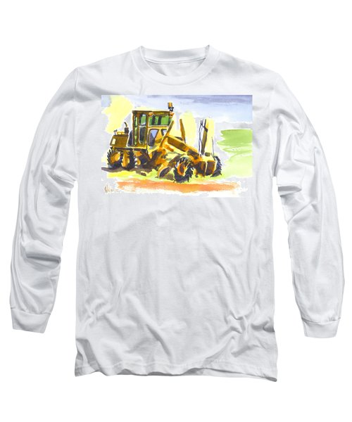 Roadmaster Tractor In Watercolor Long Sleeve T-Shirt