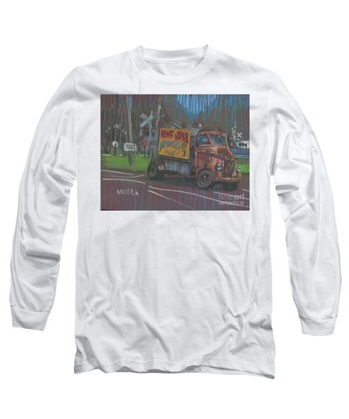 Long Sleeve T-Shirt featuring the painting Roadside Advertising by Donald Maier