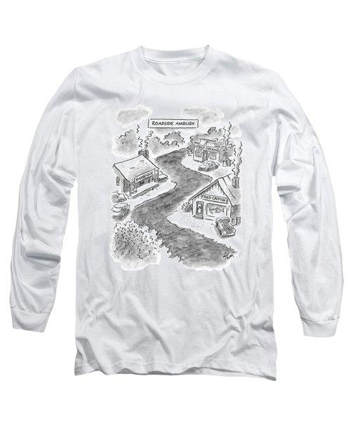 Roadside Ambush Long Sleeve T-Shirt by Frank Cotham