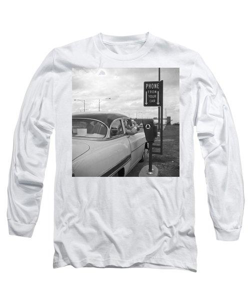 Roadside Public Telephone Long Sleeve T-Shirt