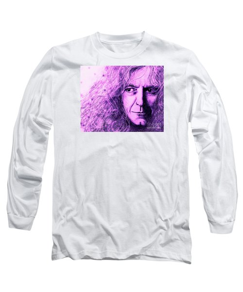 Robert Plant Purple Long Sleeve T-Shirt by Patrice Torrillo