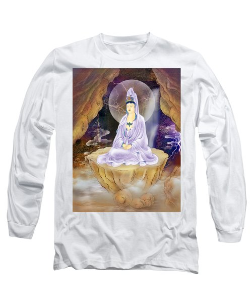 Long Sleeve T-Shirt featuring the photograph Rock Cave Avalokitesvara  by Lanjee Chee