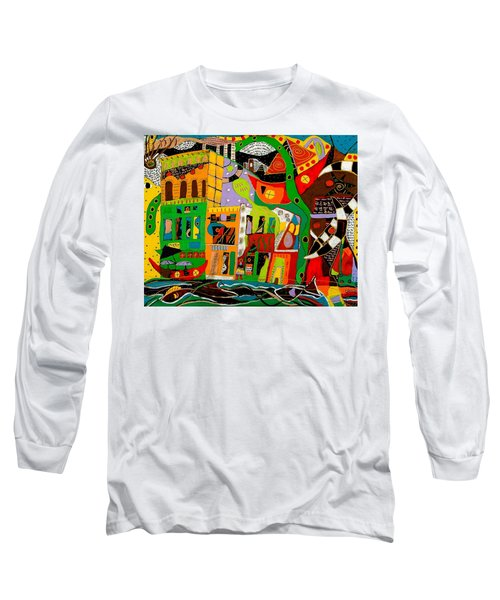 Long Sleeve T-Shirt featuring the painting Rockland by Clarity Artists