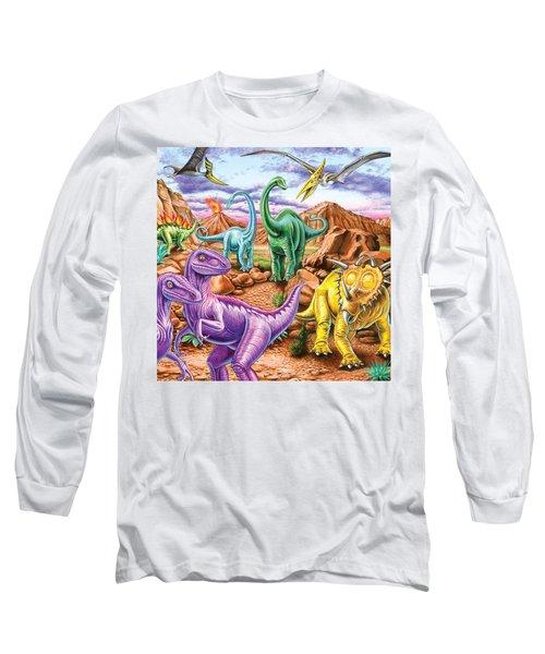 Rocky Mountain Dinos Long Sleeve T-Shirt