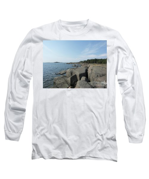 Rocky Seashore 2 In Hamina  Long Sleeve T-Shirt