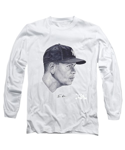 Long Sleeve T-Shirt featuring the painting Rodriguez by Tamir Barkan