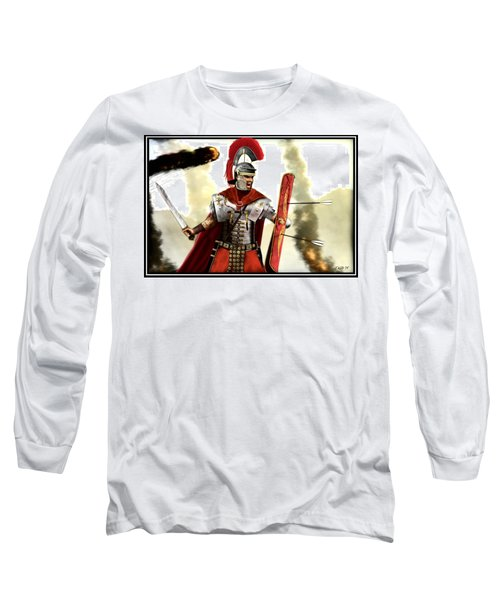 Long Sleeve T-Shirt featuring the digital art Roman Centurion by John Wills