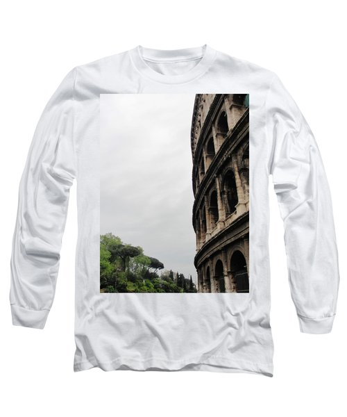 Long Sleeve T-Shirt featuring the photograph Roman Coliseum by Tiffany Erdman