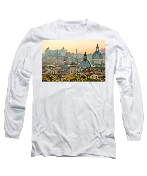 Rome - Italy Long Sleeve T-Shirt by Luciano Mortula