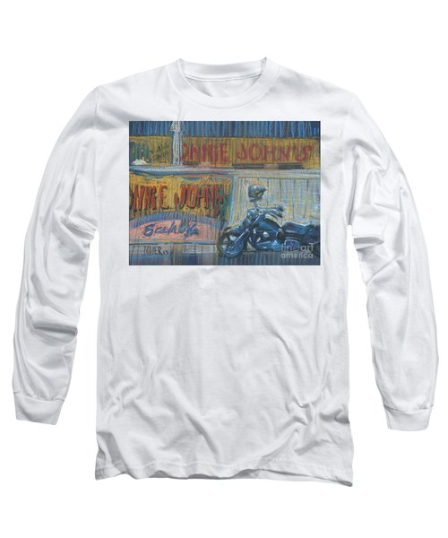 Long Sleeve T-Shirt featuring the painting Ronnie's Bike by Donald Maier
