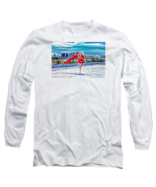 Roof Top Long Sleeve T-Shirt by Gregory Worsham
