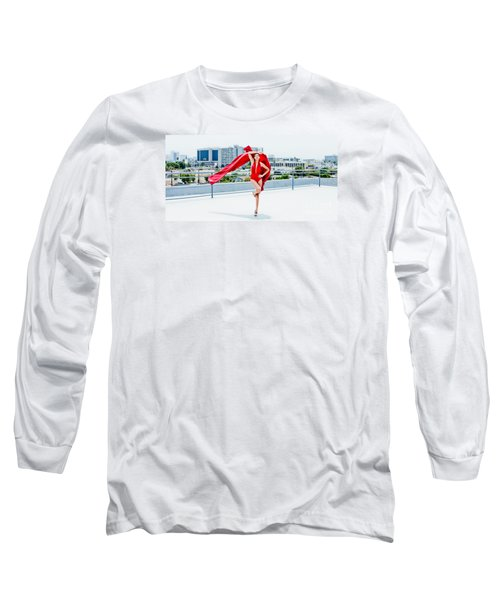 Roof Top II Long Sleeve T-Shirt by Gregory Worsham