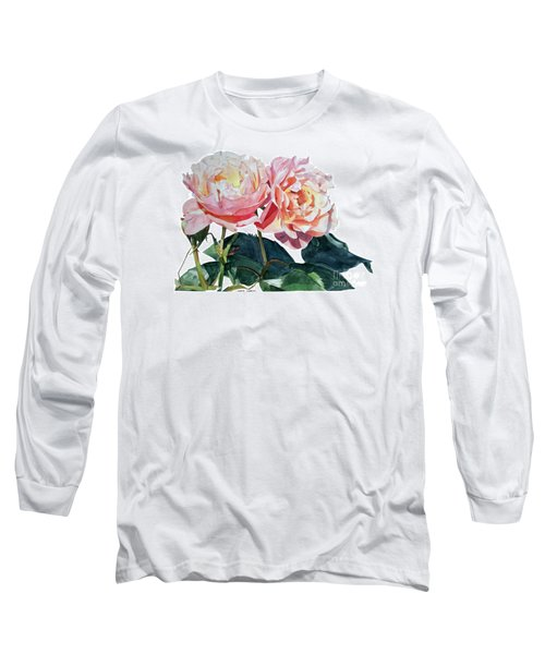 Pink And Yellow Rose Anne Long Sleeve T-Shirt