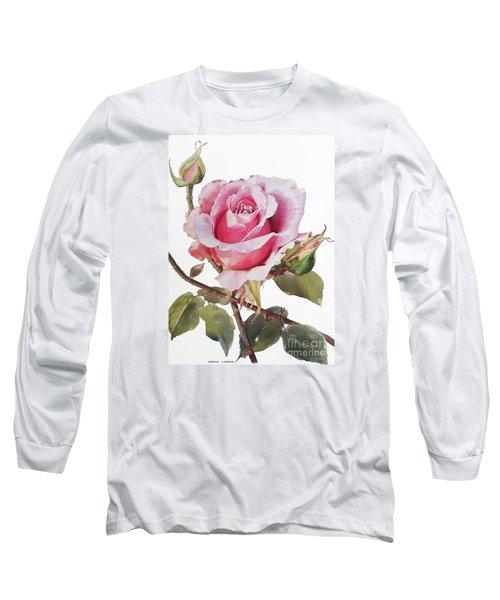 Pink Rose Grace Long Sleeve T-Shirt by Greta Corens
