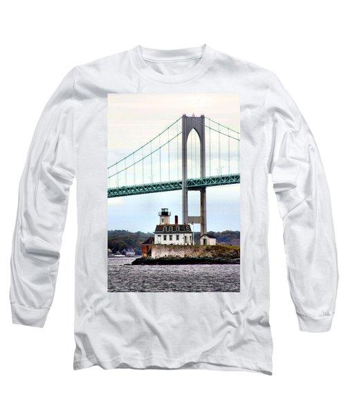 Rose Island Lighthouse Long Sleeve T-Shirt