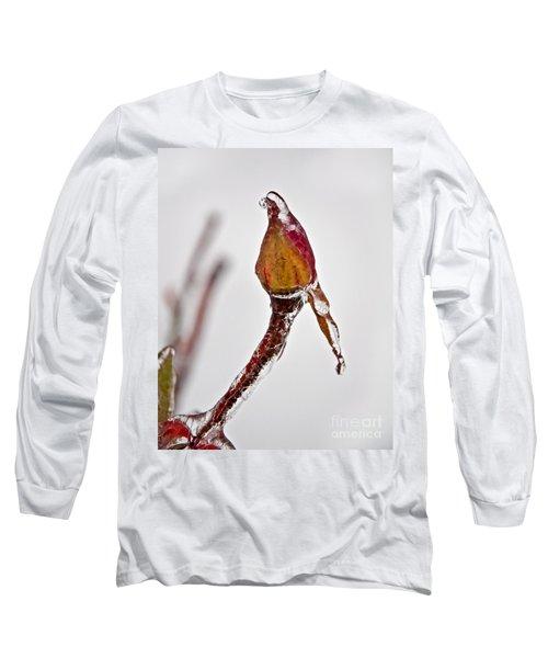 Rosebud Frozen In Ice Art Prints Long Sleeve T-Shirt