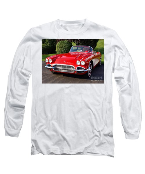 Route 66 - 1961 Corvette Long Sleeve T-Shirt