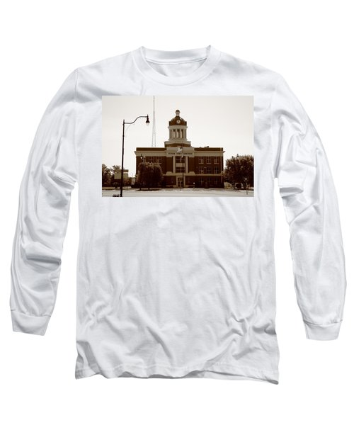Route 66 - Beckham County Courthouse Long Sleeve T-Shirt