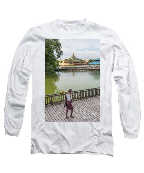Royal Barge In Yangon Myanmar  Long Sleeve T-Shirt