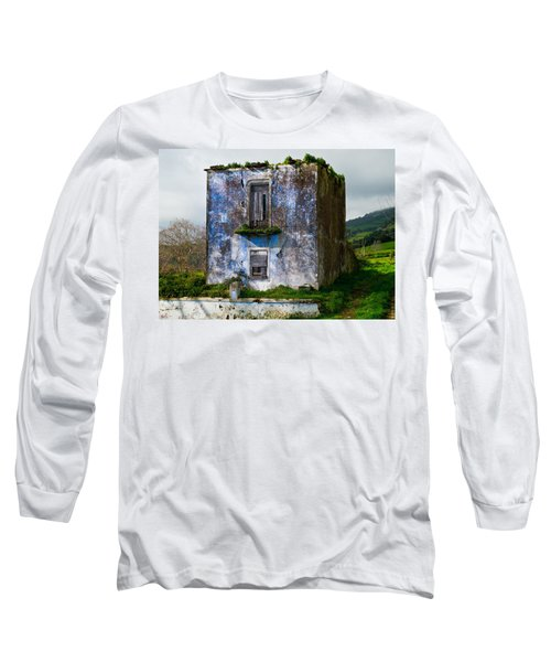 Ruins Of House Painted Blue Long Sleeve T-Shirt