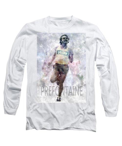 Running Legend Steve Prefontaine Long Sleeve T-Shirt