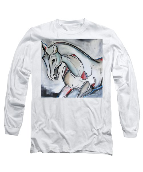 Long Sleeve T-Shirt featuring the painting Running Wild by Nicole Gaitan