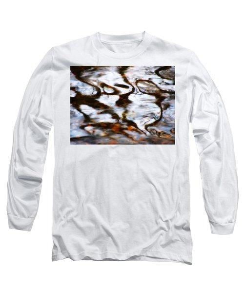 Rushing Water Long Sleeve T-Shirt by Deborah  Crew-Johnson