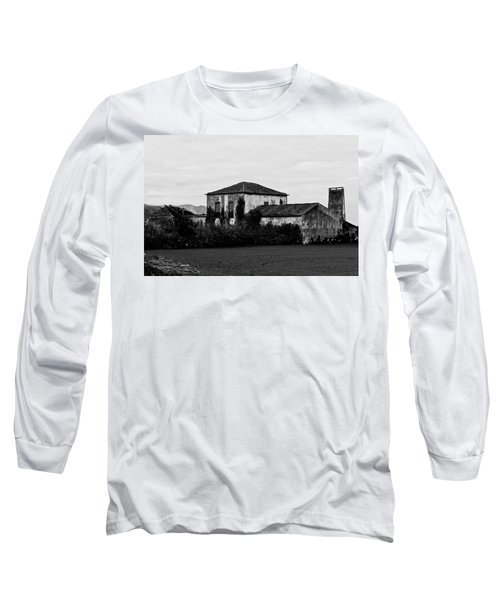 Rustic Outbuildings In A Field  Long Sleeve T-Shirt