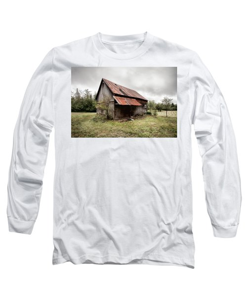 Long Sleeve T-Shirt featuring the photograph Rusty Tin Roof Barn by Gary Heller