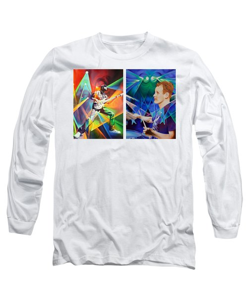 Long Sleeve T-Shirt featuring the painting Ryan And Kris by Joshua Morton