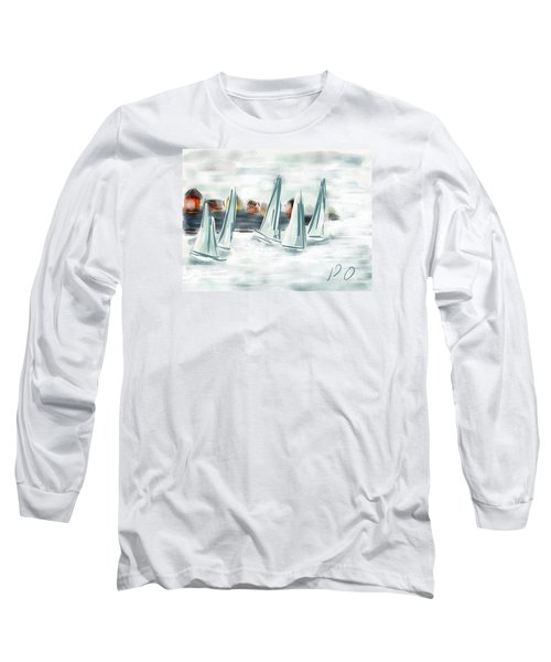 Sail Away With Me Long Sleeve T-Shirt by Patricia Olson
