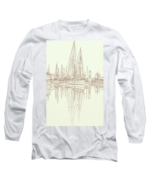 Long Sleeve T-Shirt featuring the photograph Sailboat On Liberty Bay by Greg Reed