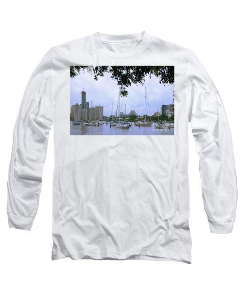 Sailboats In Brisbane Australia Long Sleeve T-Shirt