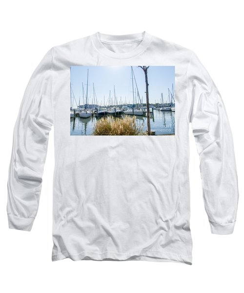 Sailboats On Back Creek Long Sleeve T-Shirt