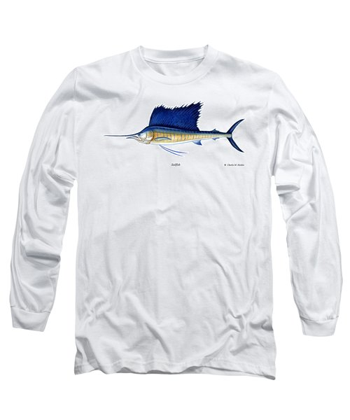 Sailfish Long Sleeve T-Shirt by Charles Harden