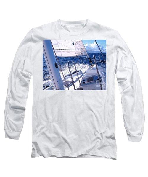 Sailing Hawaii Long Sleeve T-Shirt by Joseph J Stevens