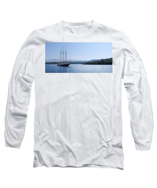 Sailing Ship In The Adriatic Islands Long Sleeve T-Shirt