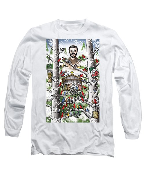 St. Francis And The Birds Long Sleeve T-Shirt