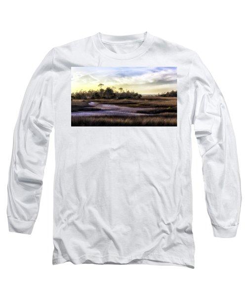 Saint Marks Wetland Sunset Long Sleeve T-Shirt