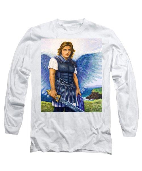 Saint Michael The Archangel Long Sleeve T-Shirt