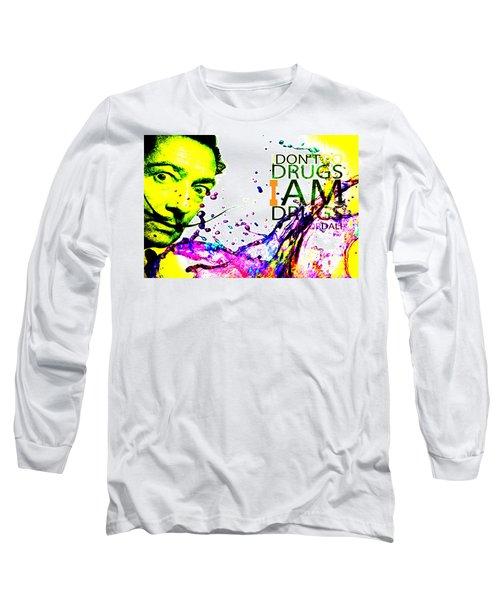 Salvador Dali Pop Art Long Sleeve T-Shirt