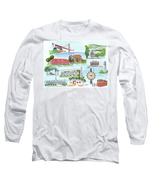 San Francisco Highlights Montage Long Sleeve T-Shirt by Mike Robles